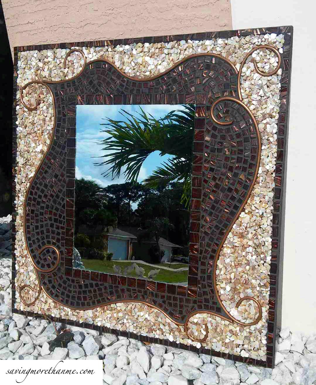 DIY Mosaic Decorative Mirror!