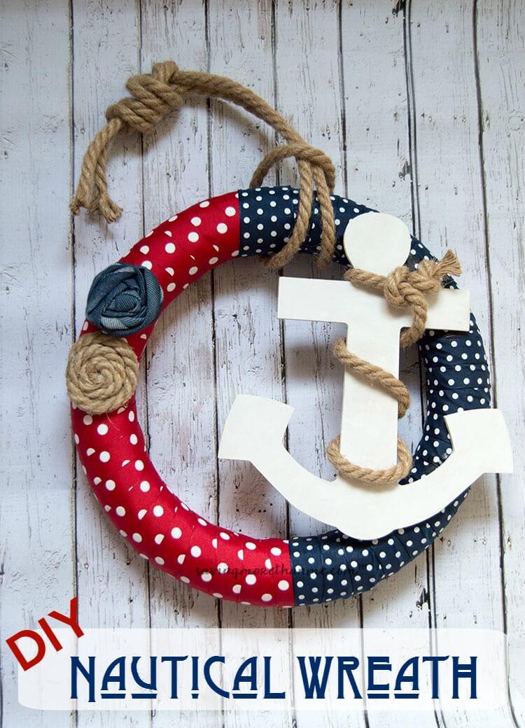 DIY Nautical Wreath #crafts