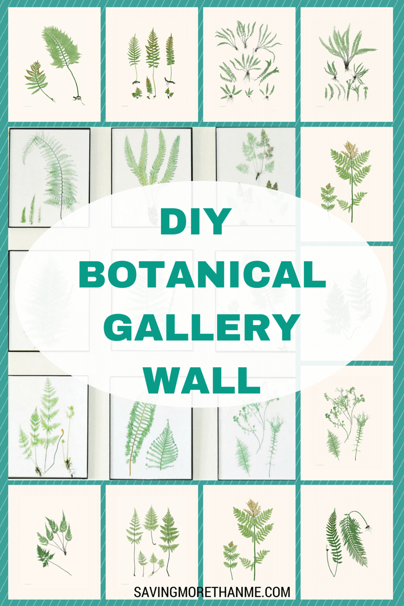 DIY Botanical Gallery Wall {Plus 4 Free Fern Prints}