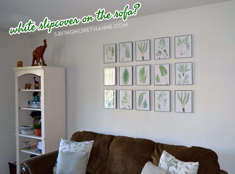 DIY Botanical Gallery Wall {Plus 4 Free Fern Prints} savingmorethanme.com