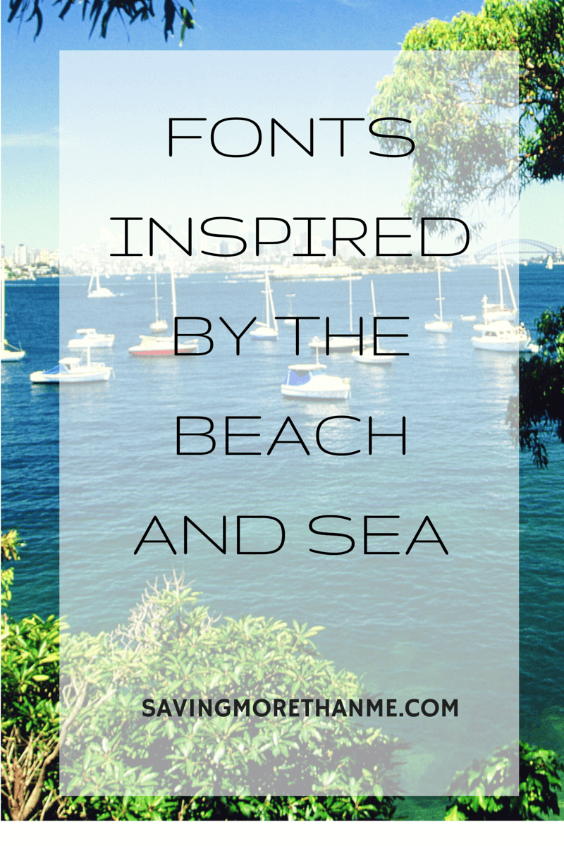 Free Fonts Inspired By The Beach and Sea savingmorethanme.com