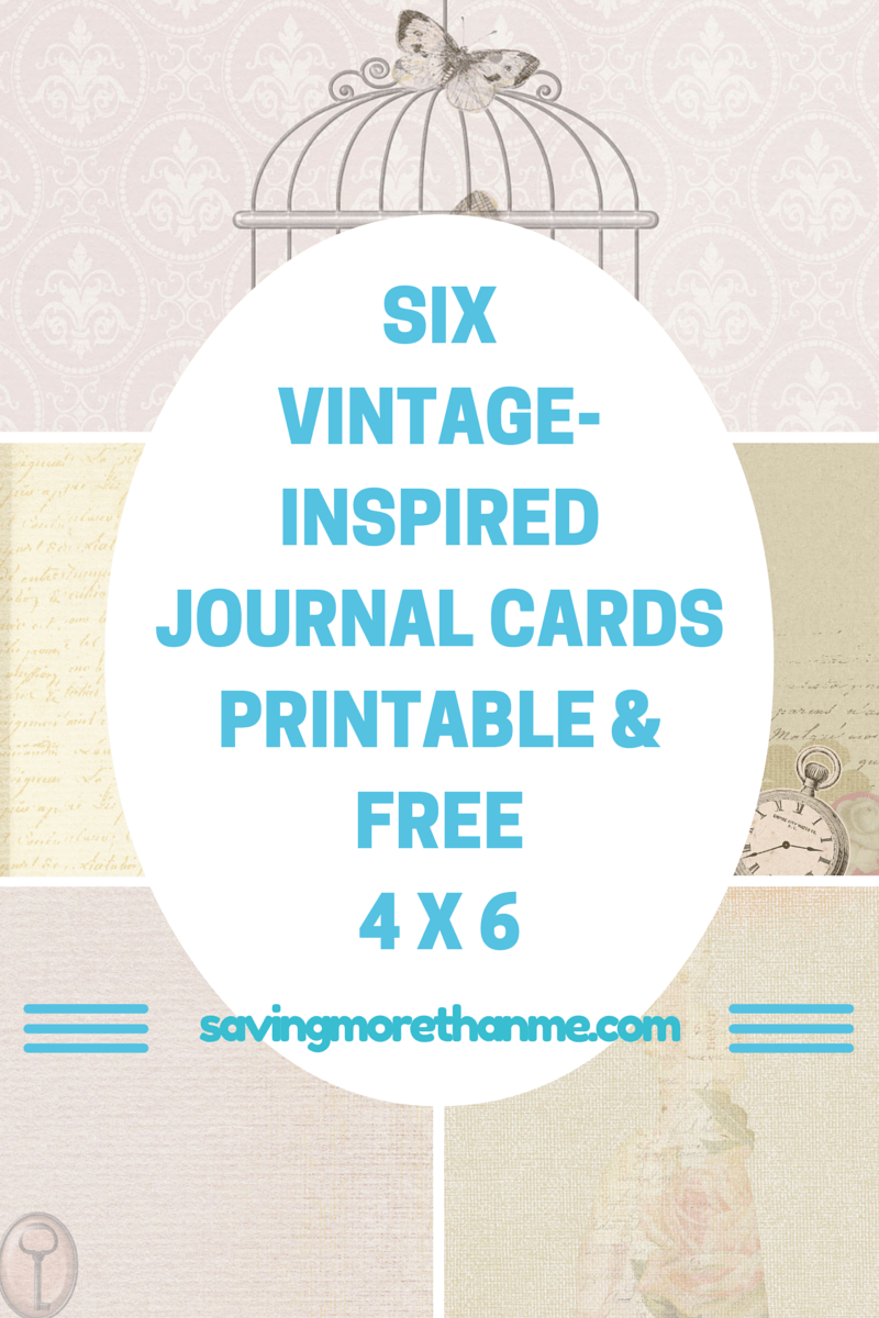 6 Free Vintage Inspired Journal Cards