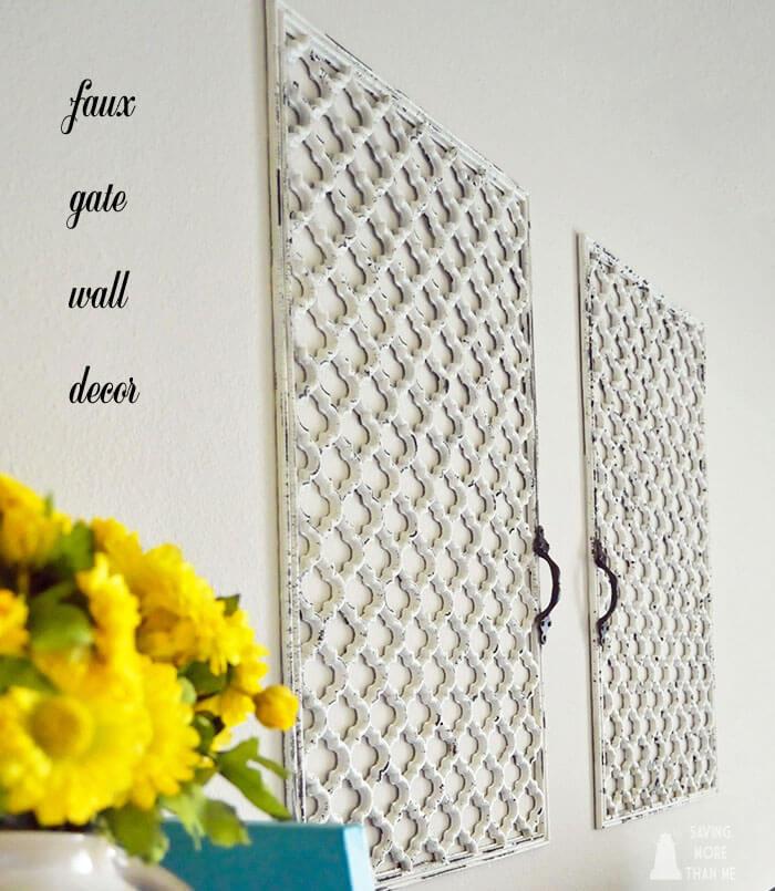 DIY:  Faux Gate Wall Decor