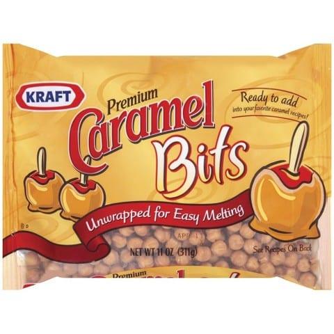 kraft caramel bits used in Chocolate Caramel Crunch Bars #recipes