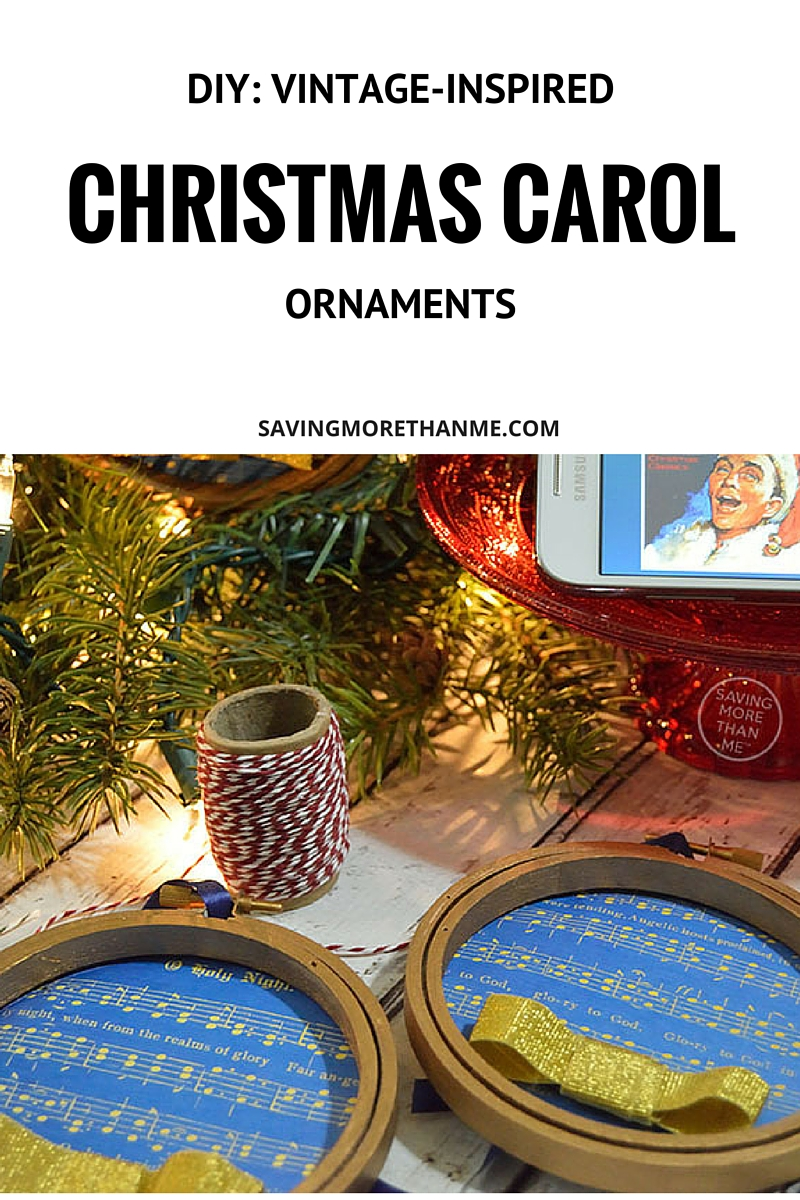 DIY: Vintage-Inspired Christmas Carol Ornaments
