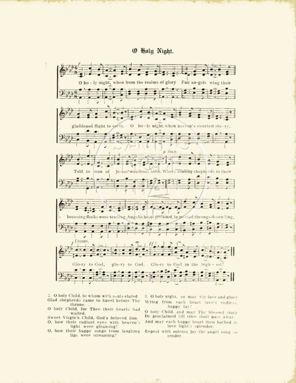 Four Vintage Christmas Carol Song + Lyric Sheets