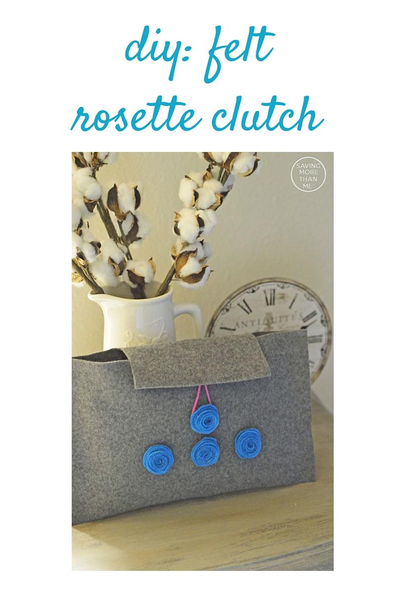 DIY: Felt Rosette Clutch #ActiveFitForMe #ad