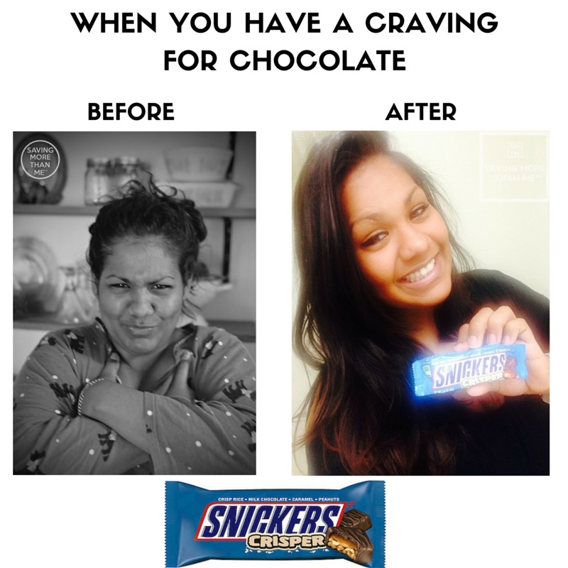 When You Have A Craving For Chocolate #satisfaction @SheSpeaksUp @SNICKERS