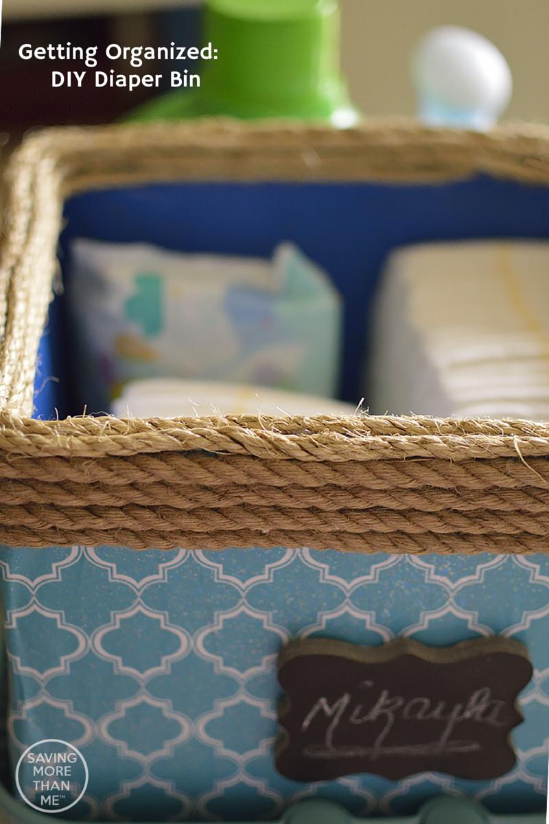 Getting Organized- DIY Diaper Bin