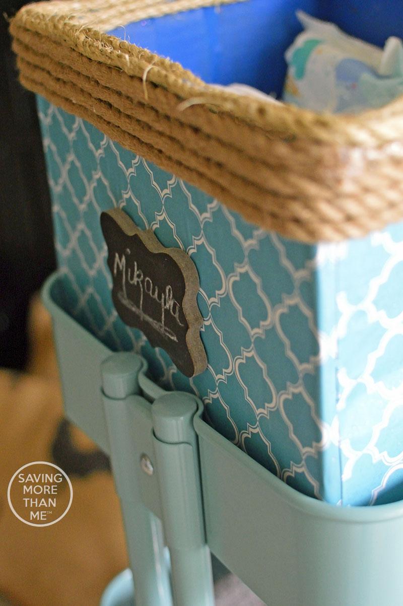 Getting Organized: Household Supplies + DIY Diaper Bin #StockUpSave