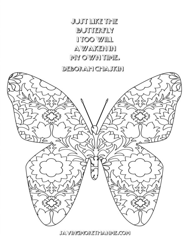 Summer Freebies:  Butterfly Coloring Pages, Clip Art, and Bookmarks savingmorethanme.com
