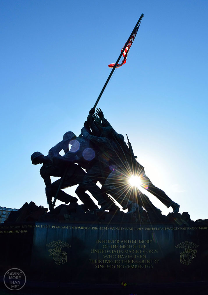 Marine Corps War Memorial---Washington DC--5 Fun Ways To Fit In Exercise (Even If You Hate Exercise)