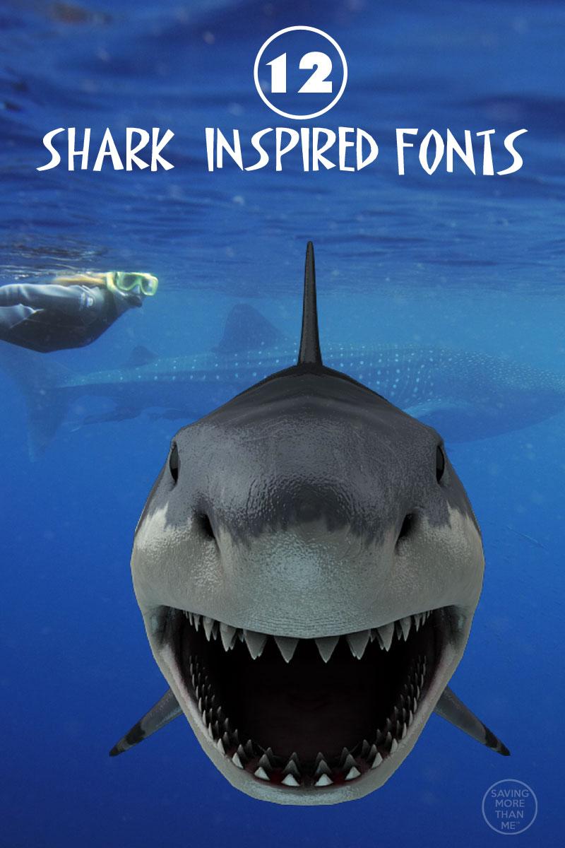 12 Shark-Inspired Fonts + I Survived Shark Week Printable #SharkWeek