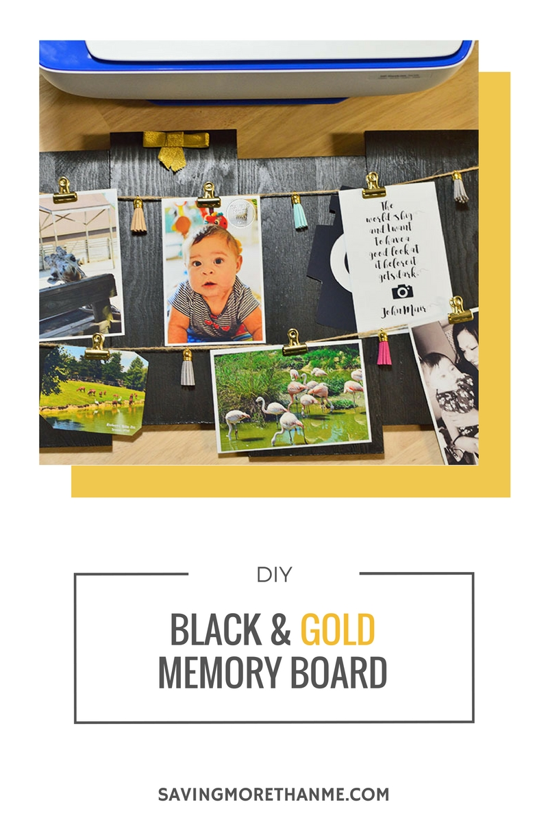 DIY:  Black and Gold Memory Board