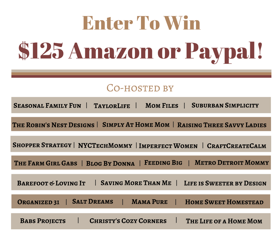 Giveaway:  A Chance To Win $125 Amazon Gift Card Or PayPal Cash (EXPIRED)