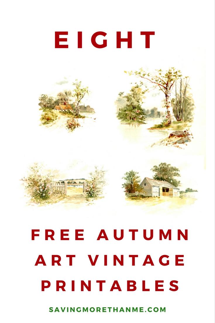 Eigh Free Autumn Art Vintage Printables Fall Autumn