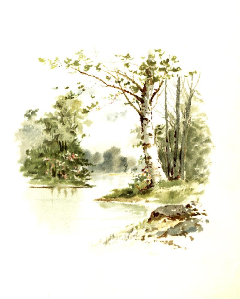 Eight Free Autumn Art Vintage Printables autumn-scene-2