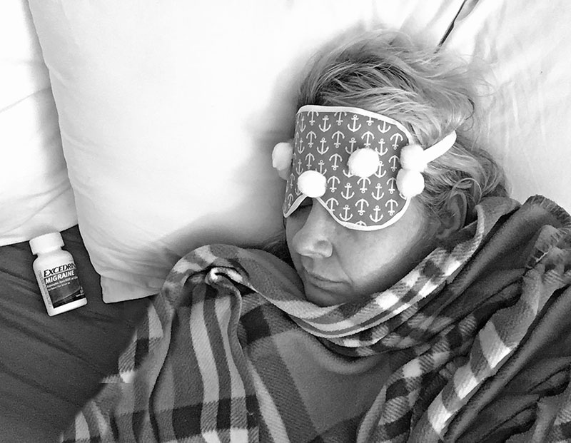 How A Migraine Almost Made Me Miss My Granddaughter's Birth + DIY Eye Mask @Excedrin #MoreMomentsWithExcedrin #ad
