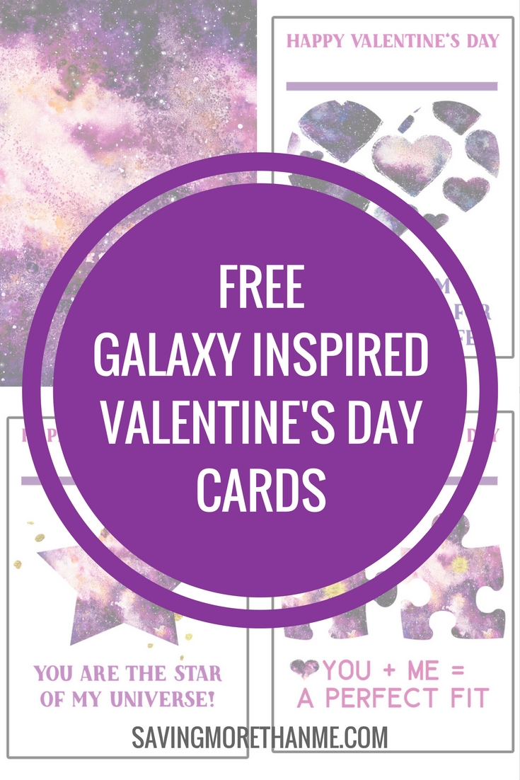 Free Galaxy Inspired Valentine's Day Cards