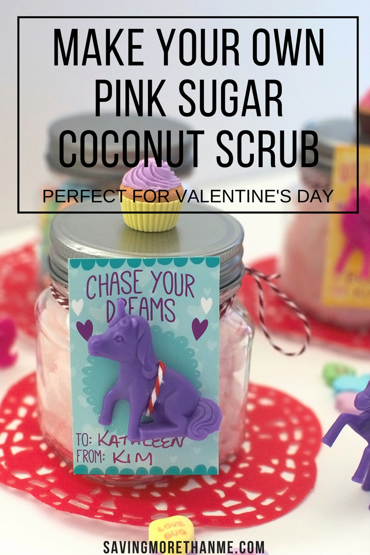 Make Your Own Pink Sugar Coconut Scrub (Easy DIY)
