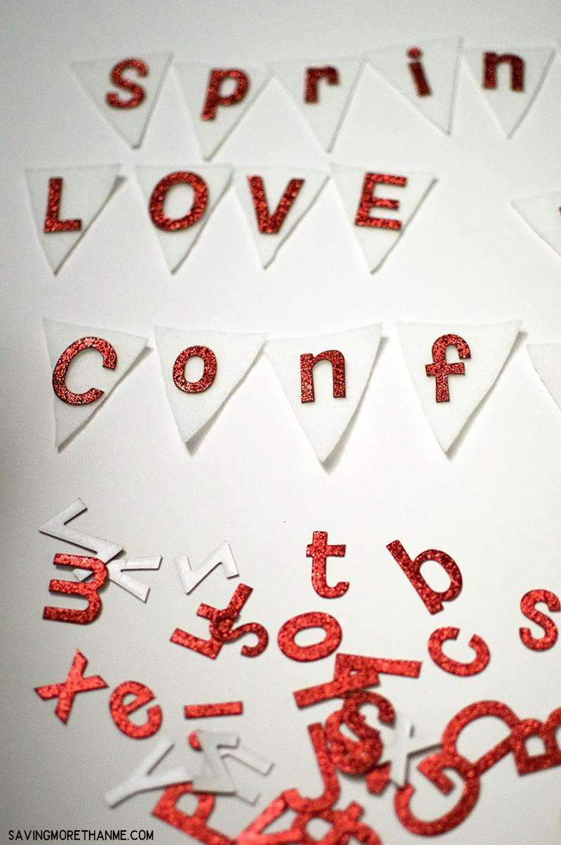 Sprinkle Love Like Confetti Valentine's Day Wreath (An Easy DIY)