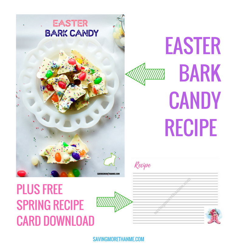 Wow Your Family With This Pretty Easter Bark Candy + Free Spring Recipe Card