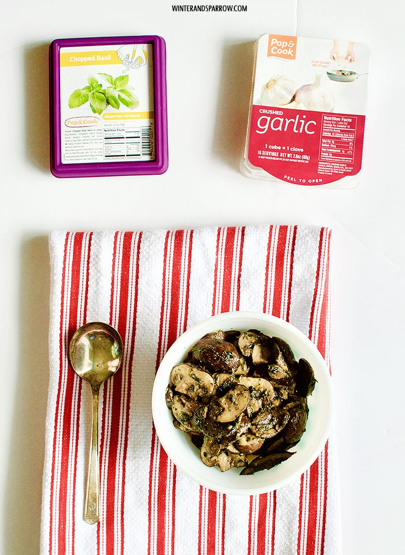 Simple Garlic + Herb Mushrooms Made Even Easier With Pop & Cook #JustPopandCook #ad winterandsparrow.com