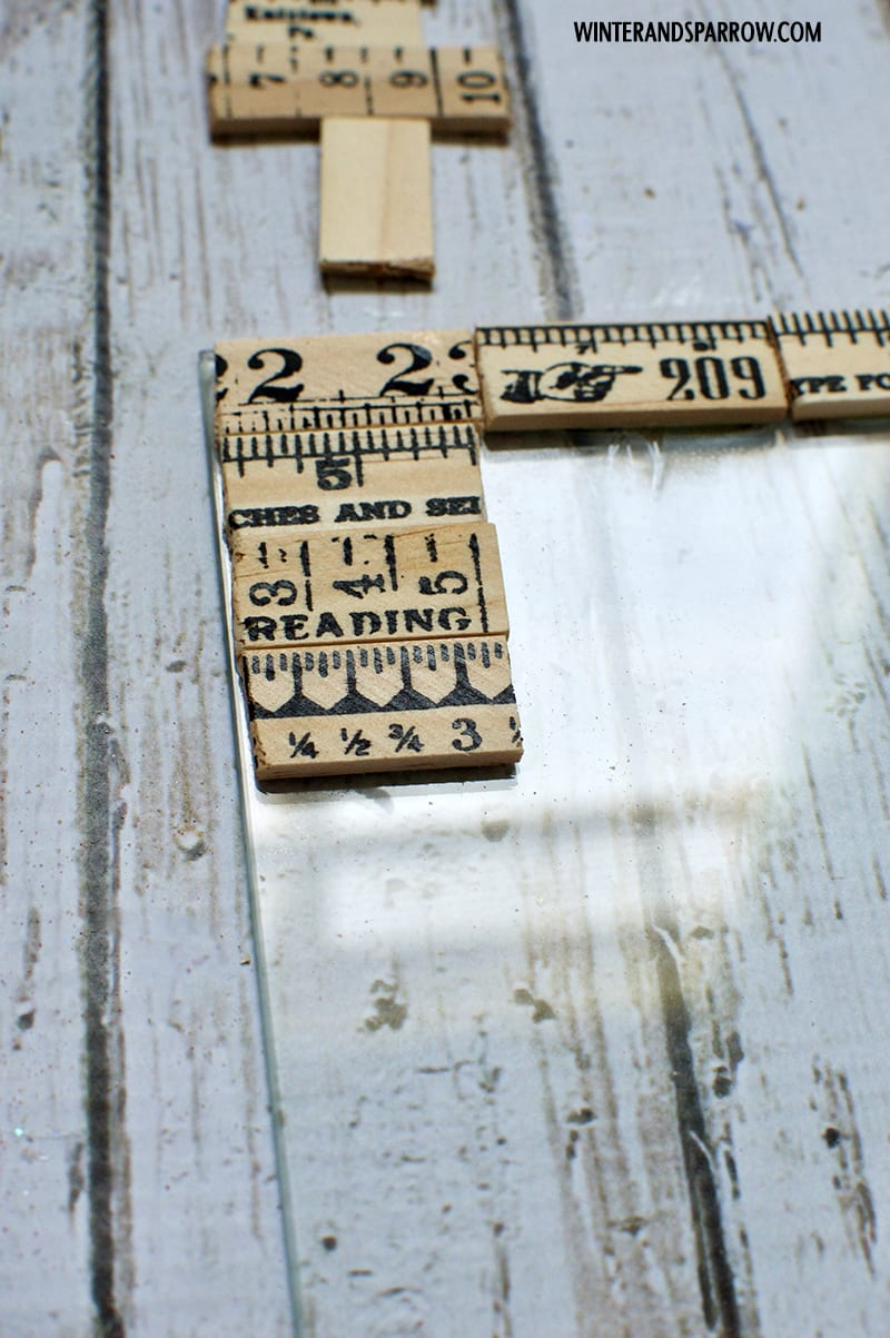 How To Turn A Boring Photo Frame Into A Vintage Ruler Inspired Keepsake #MomentsShineWithWindex AD winterandsparrow.com