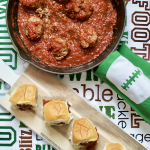 Easy Game Day Eats: Meatball Sliders + Chocolate Football Cake @ILoveIceCreamCakes @FoodLion #ad