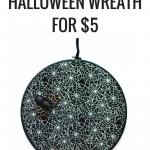 Make A Simple + Spooky Halloween Wreath For $5
