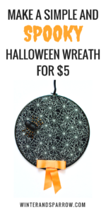 Make A Simple + Spooky Halloween Wreath For $5