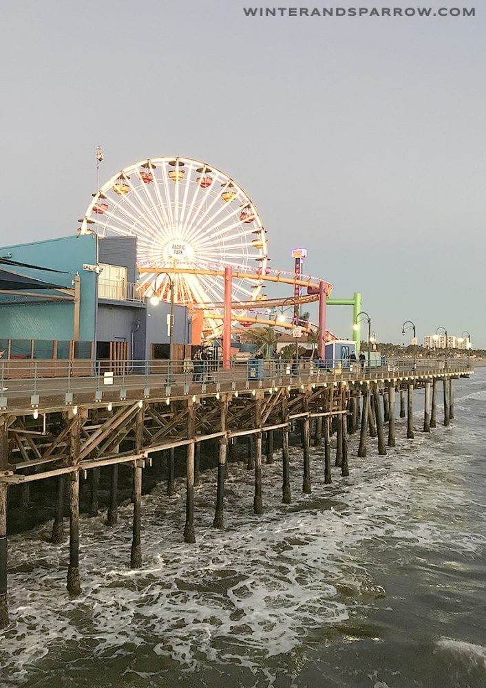 5 Cheap Or Free Things To Do At The Santa Monica Pier winterandsparrow.com