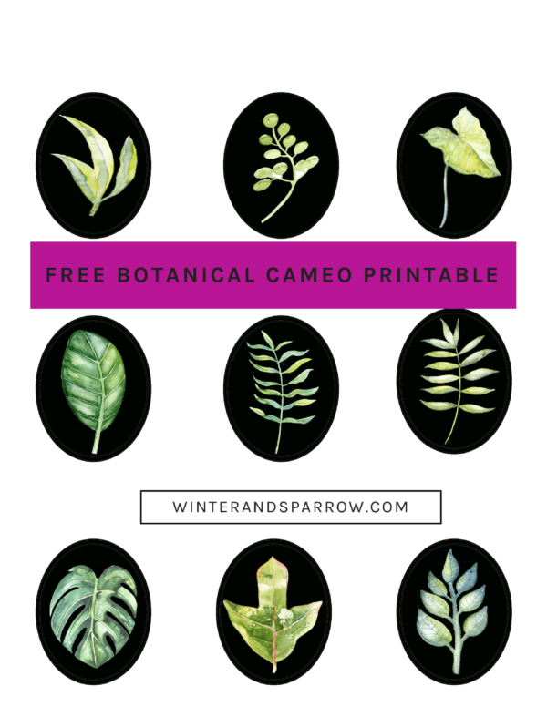 DIY: Learn How To Make Decorative Botanical Easter Eggs winterandsparrow.com *Free Botanical Printable*