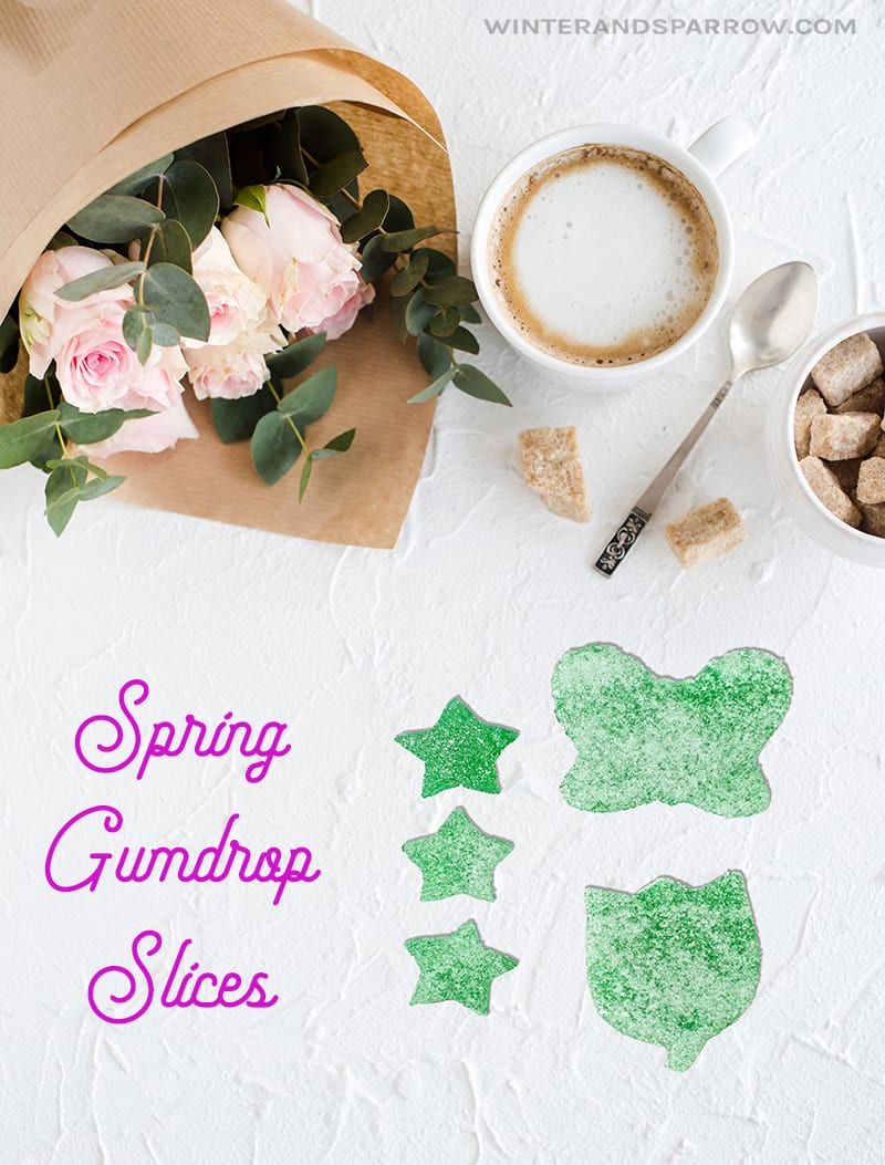 Kick Off Spring By Making Gumdrop Slices (Gumdrop Recipe) winterandsparrow.com #gumdrops #gumdroprecipe