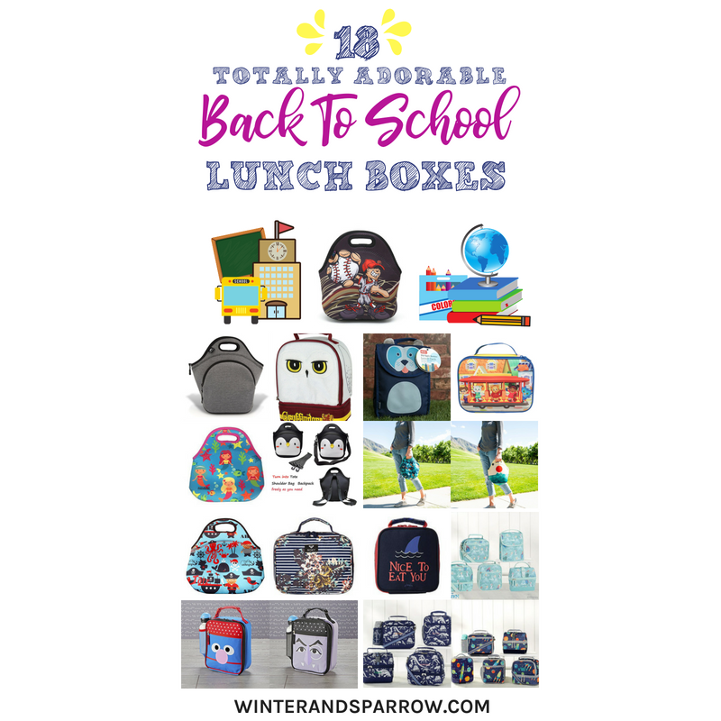 18 Totally Adorable Back To School Lunch Boxes + Free First Day Of School Sign #BTS | winterandsparrow.com #firstdayofschool #backtoschool