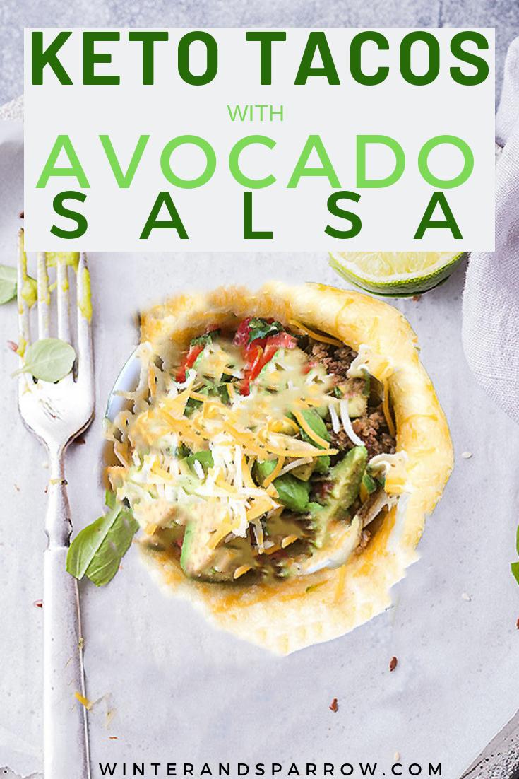 Keto Tacos with Avocado Salsa
