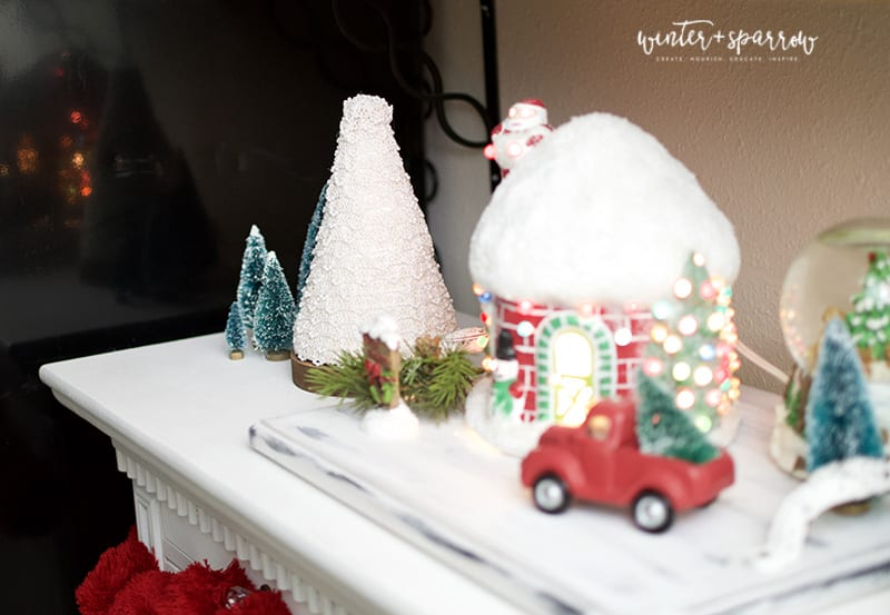 Watch Me Transform Dollar Tree Safety Cones Into Pottery Barn Inspired Christmas Decor | winterandsparrow.com You won't believe how pretty this is! #dollartreecrafts #cheapchristmascrafts #dollarstorecrafts #potterybarninspired