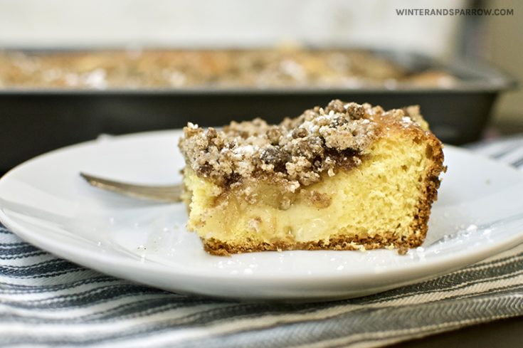 Apple Cinnamon Coffee Cake with Crumb Topping