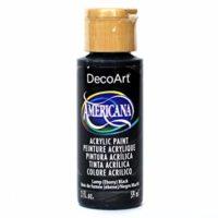DecoArt Americana Acrylic Paint, 2-Ounce, Lamp Black (DAO67-3)