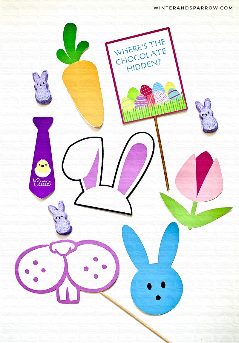 Free Easter Photo Booth Props + Tips For Printing At Home @Epson_Store AD | winterandsparrow.com #easterphotoprops #easterphotobooth #freephotoboothprops #easterphotoideas